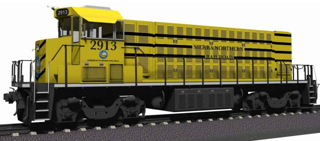 Hydrogen test locomotive wins $4 million from California Energy Commission