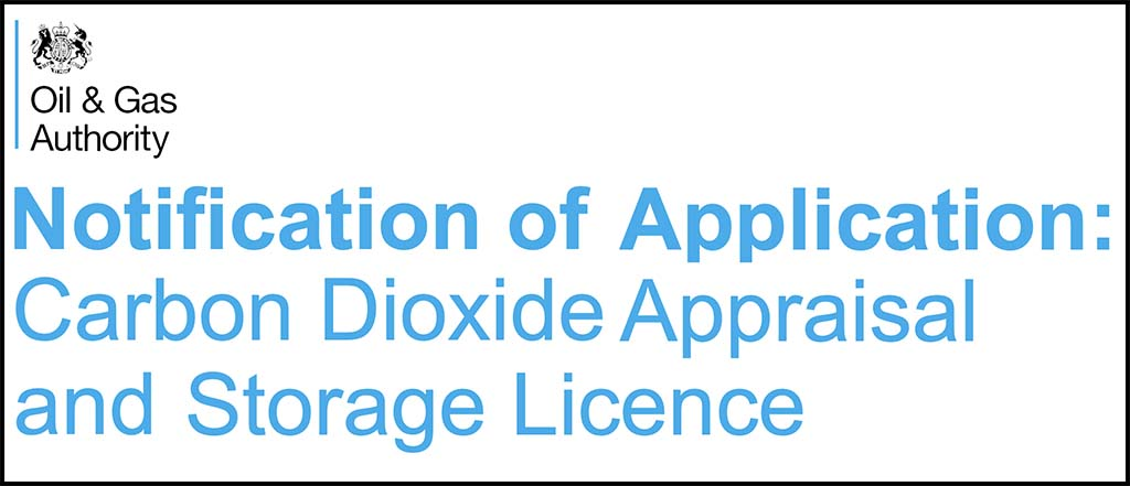 Oil & Gas Authority UK: Carbon Dioxide Appraisal and Storage License